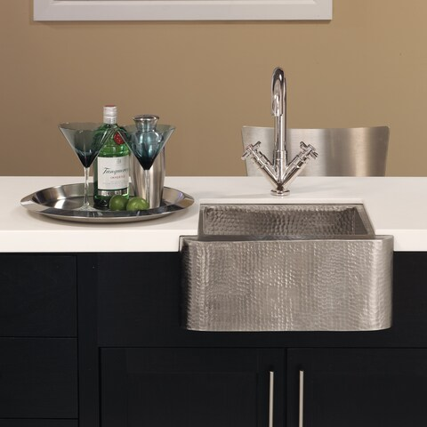 Cabana Brushed Nickel Rectangular Bar/ Prep Sink