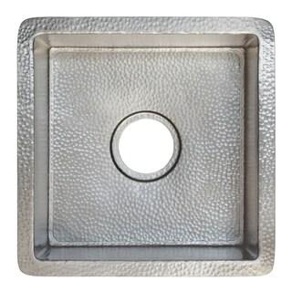 Cantina Hammered Brushed Nickel Undermount Bar/ Kitchen Prep Sink