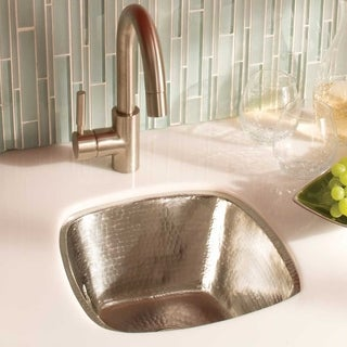 Rincon Brushed Nickel 13-inch Square Undermount Bar/ Prep Sink