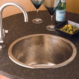 Redondo Grande Hammered Brushed Nickel Universal Mount Bar Sink