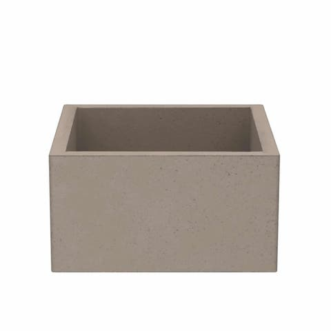 "Ventana 15-inch NativeStone Concrete Bar/ Prep Sink - 15"" x 15"" x 8"""