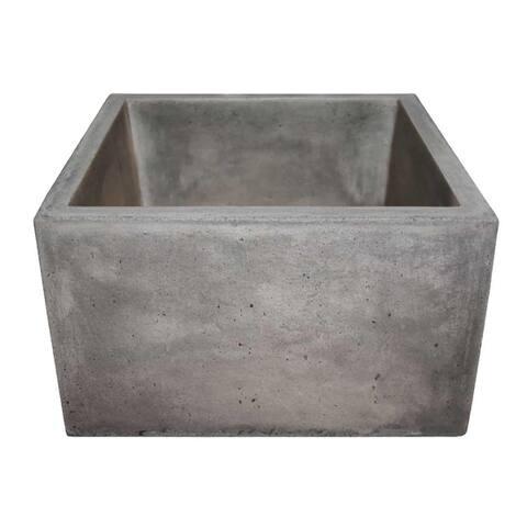 """Ventana 15-inch NativeStone Concrete Bar/ Prep Sink - 15"""" x 15"""" x 8"""""""