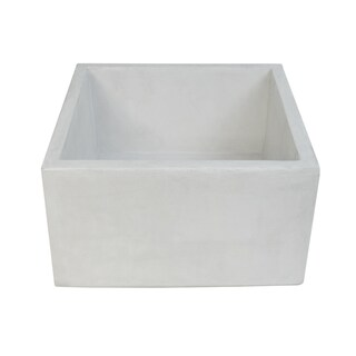 Ventana 15-inch NativeStone Concrete Bar/ Prep Sink (Option: PEARL)