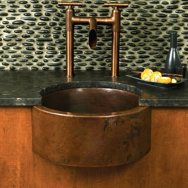 Shop Fiesta 19 Inch Round Antique Copper Bar Prep Sink