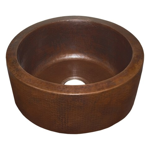 Fiesta 19-inch Round Antique Copper Bar/ Prep Sink
