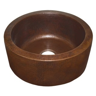 Fiesta 19-inch Round Antique Copper Bar/ Prep Sink