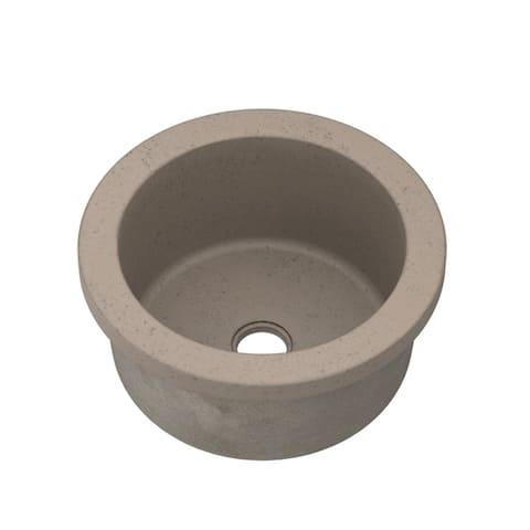 "Malibu Handcrafted NativeStone Concrete Bar/ Prep Sink - 14"" x 7"""