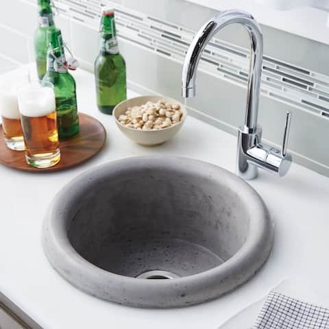 Pozo 16-inch Round NativeStone Bar/ Prep Sink