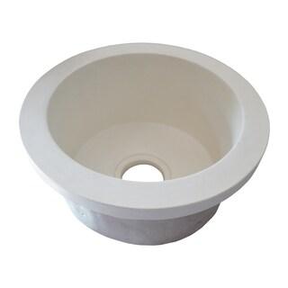 Olivos Handcrafted NativeStone Concrete Bar/ Prep Sink (Option: PEARL)