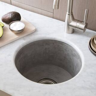 "Olivos Handcrafted NativeStone Concrete Bar/ Prep Sink - 16"" x 8"""