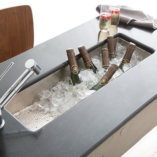 Rio Chico Brushed Nickel Universal Mount Bar/ Prep Trough Sink - Brushed nickel
