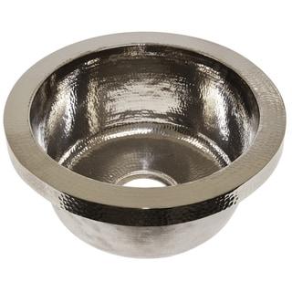 Mojito Hammered Polished Nickel Drop-in Bar/ Prep Sink