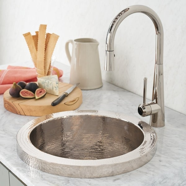 Charmant Mojito Hammered Polished Nickel Drop In Bar/ Prep Sink   Polished Nickel