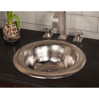 Maestro Ananda Brushed Nickel Drop-in Bathroom Sink - Brushed nickel