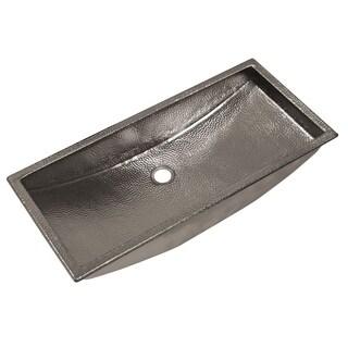 Trough Polished Nickel 30-inch Undermount/ Drop-in Rectangular Bathroom Sink