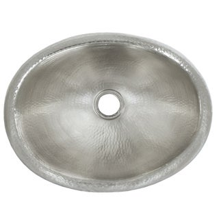 Rolled Baby Classic Brushed Nickel Drop-in Oval Bathroom Sink