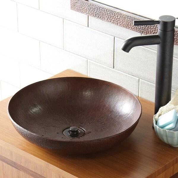 Maestro Sonata Pe Antique Copper Vessel Bathroom Sink