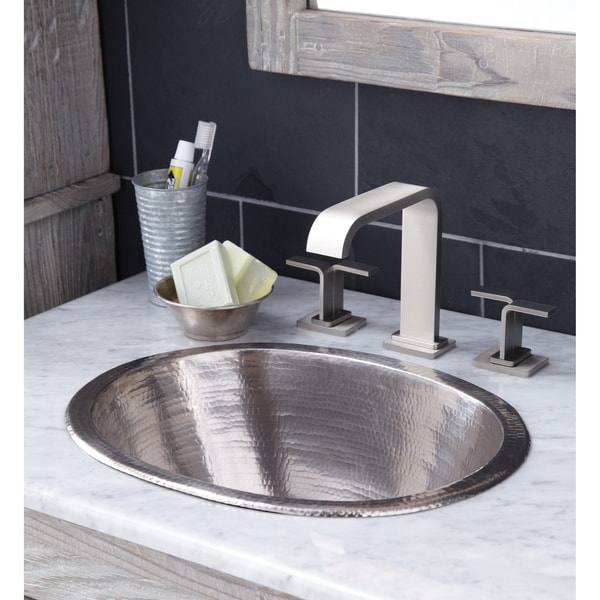 Outstanding Cameo Brushed Nickel Undermount Drop In Oval Bathroom Sink Brushed Nickel Home Interior And Landscaping Palasignezvosmurscom