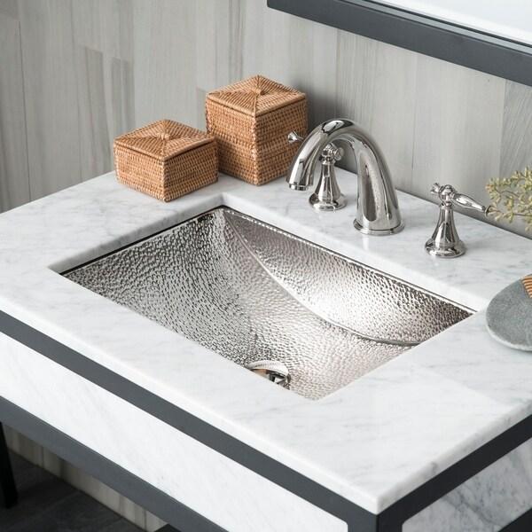 Shop Avila Polished Nickel Undermount Bathroom Sink - Polished Nickel - Free Shipping Today - Overstock - 18235360 & Shop Avila Polished Nickel Undermount Bathroom Sink - Polished ...