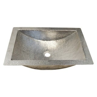 Avila Polished Nickel Undermount Bathroom Sink