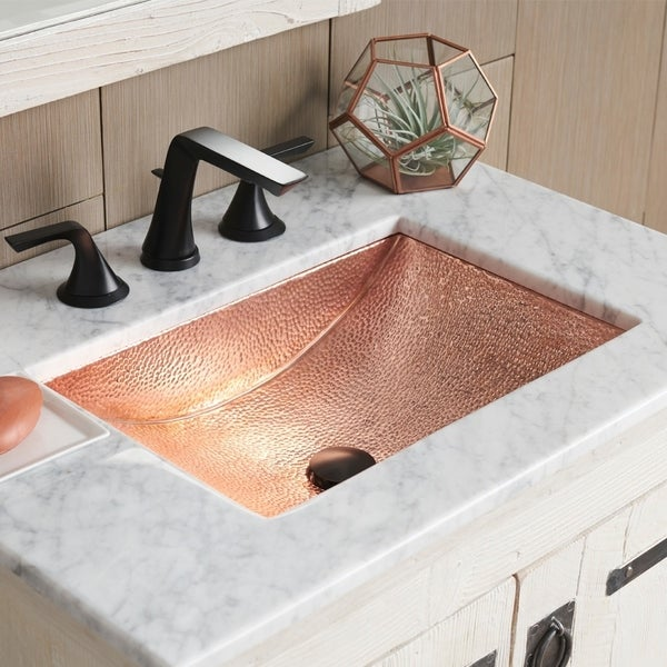 Avila Polished Copper Undermount Bathroom Sink