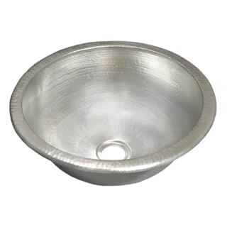 Paloma Brushed Nickel Undermount/ Drop In Round Bathroom Sink