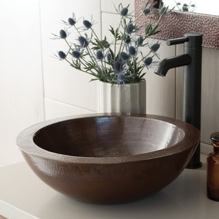 Link to Laguna Antique Copper Vessel Bathroom Sink Similar Items in Sinks