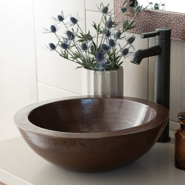 Laguna Antique Copper Vessel Bathroom Sink. Opens flyout.
