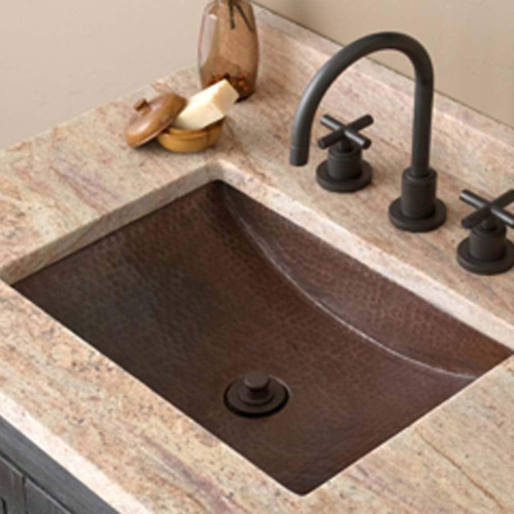 Antique Copper Undermount Bathroom Sink