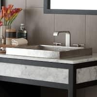 Tatra Brushed Nickel Drop-in Bathroom Sink - Brushed nickel
