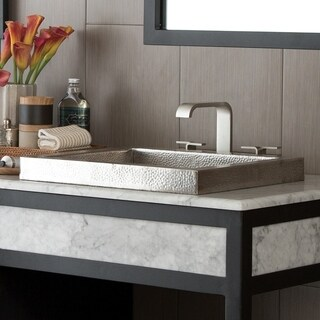 Tatra Brushed Nickel Drop-in Bathroom Sink - Brushed nickel