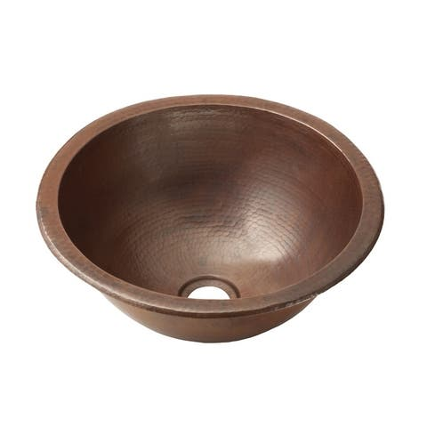 Paloma Antique Copper Undermount/ Drop-in Round Bathroom Sink