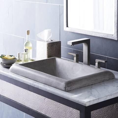 "Montecito NativeStone and Concrete Drop-in Bathroom Sink - 21.5"" x 15.5"" x 5.25"""