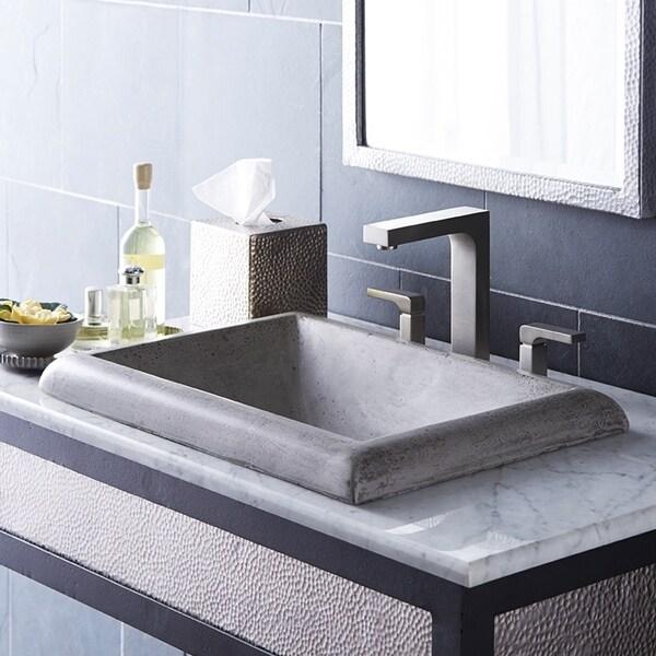Shop Montecito NativeStone And Concrete Dropin Bathroom Sink Free - Drop in bathroom sink installation