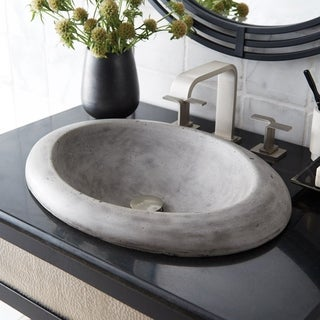 Cuyama NativeStone and Concrete Drop-in Bathroom Sink