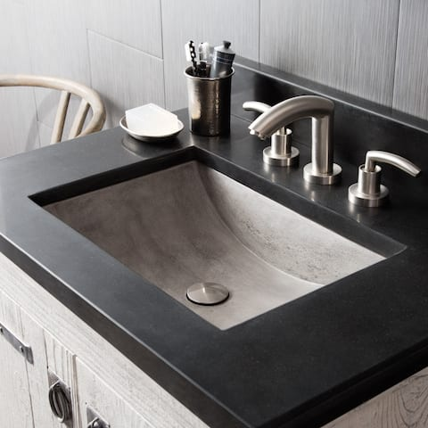 "Cabrillo 21-inch NativeStone Undermount Bathroom Sink - 20.75"" x 14.75"" x 5"""