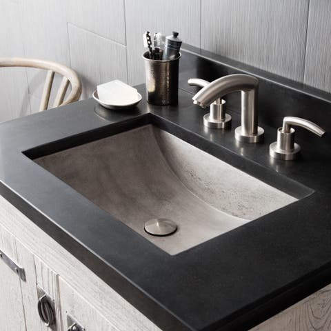 "Cabrillo 21-inch NativeStone Undermount Bathroom Sink - 20.75"" x 14.75"" x 5"""