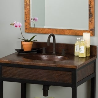 Sedona Antique Copper 36-inch Vanity Top with Integral Sink