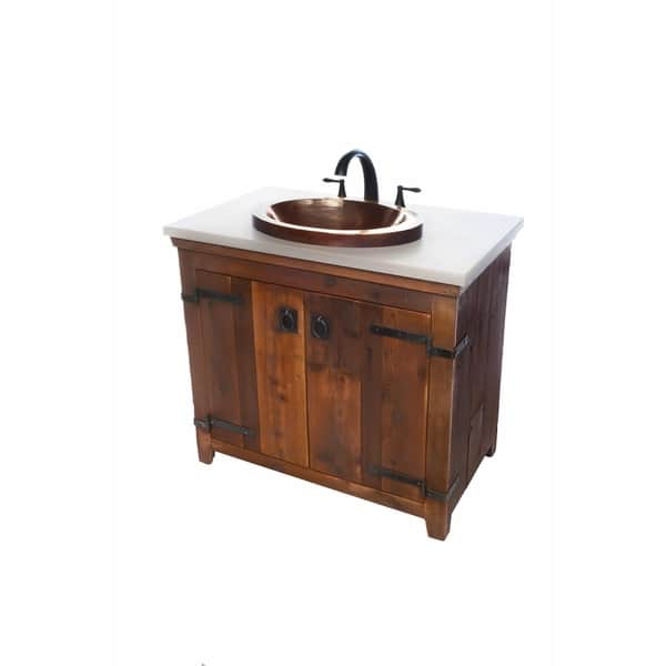 Americana Chestnut 48 Inch Reclaimed Wood Bathroom Vanity Base Only Overstock 18235407