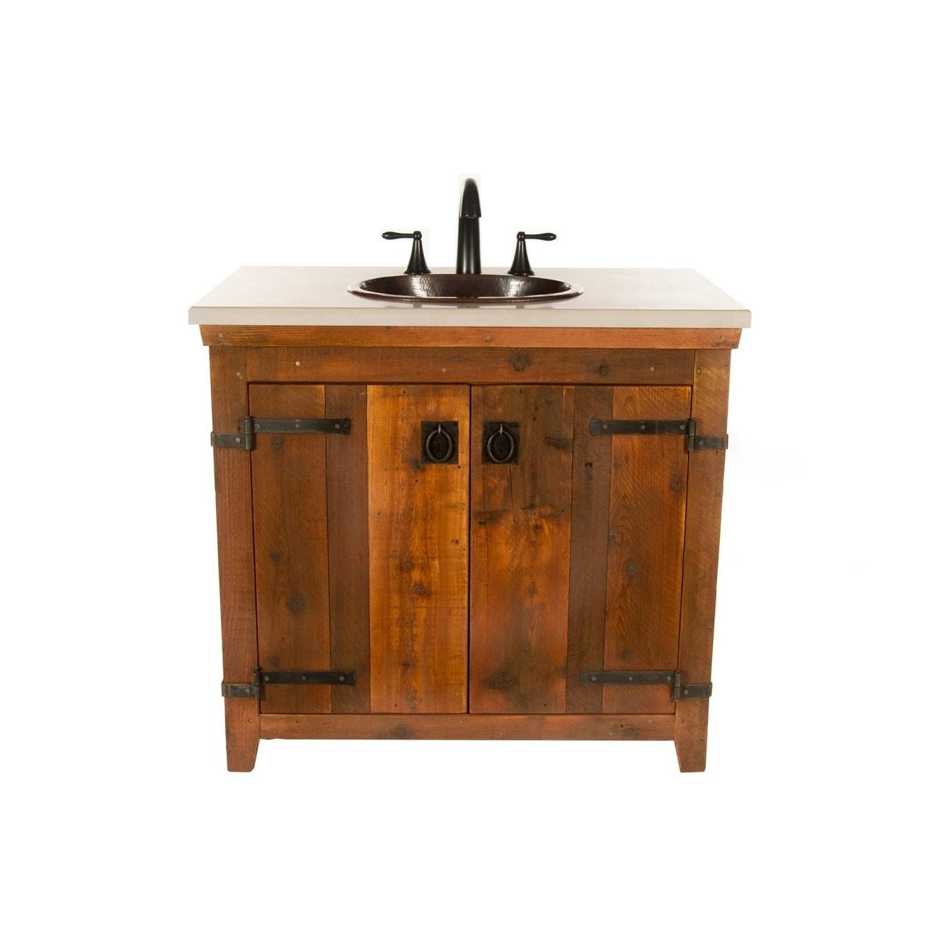 Americana Chestnut 48 Inch Reclaimed Wood Bathroom Vanity Base Only Overstock 18235407