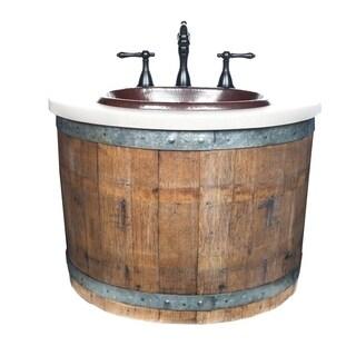 Bordeaux Reclaimed Wood Wall Mount Bathroom Vanity