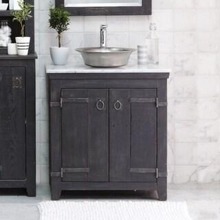 Americana Anvil 30-inch Reclaimed Wood Bathroom Vanity