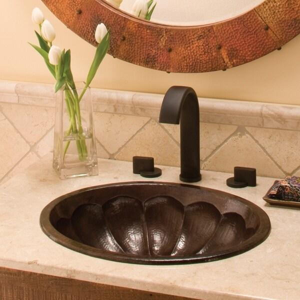 Shop Calabash Antique Copper Undermount Drop In Oval Bathroom Sink