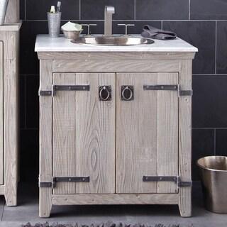 Americana Driftwood 30-inch Reclaimed Wood Bathroom Vanity