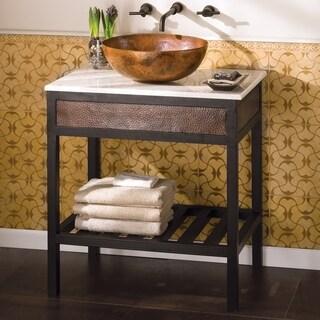 Cuzco Antique Copper 30-inch Wrought Iron Metal Bath Vanity