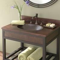 Sedona Antique Copper 30-inch Vanity Top with Integral Sink