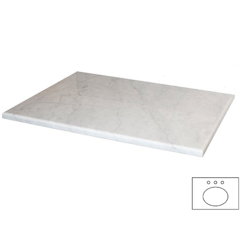 NATIVE TRAILS Carrara 24-inch Natural Stone Vanity Top fo...