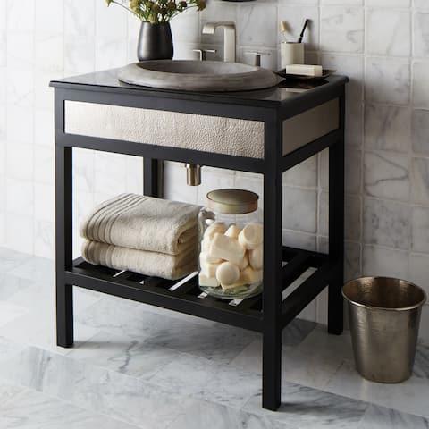 Cuzco Brushed Nickel 30-inch Steel Bath Vanity (Base Only)