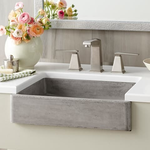 "Nipomo New NativeStone Undermount/ Vessel Bathroom Sink - 19.5"" x 15"" x 4.5"""