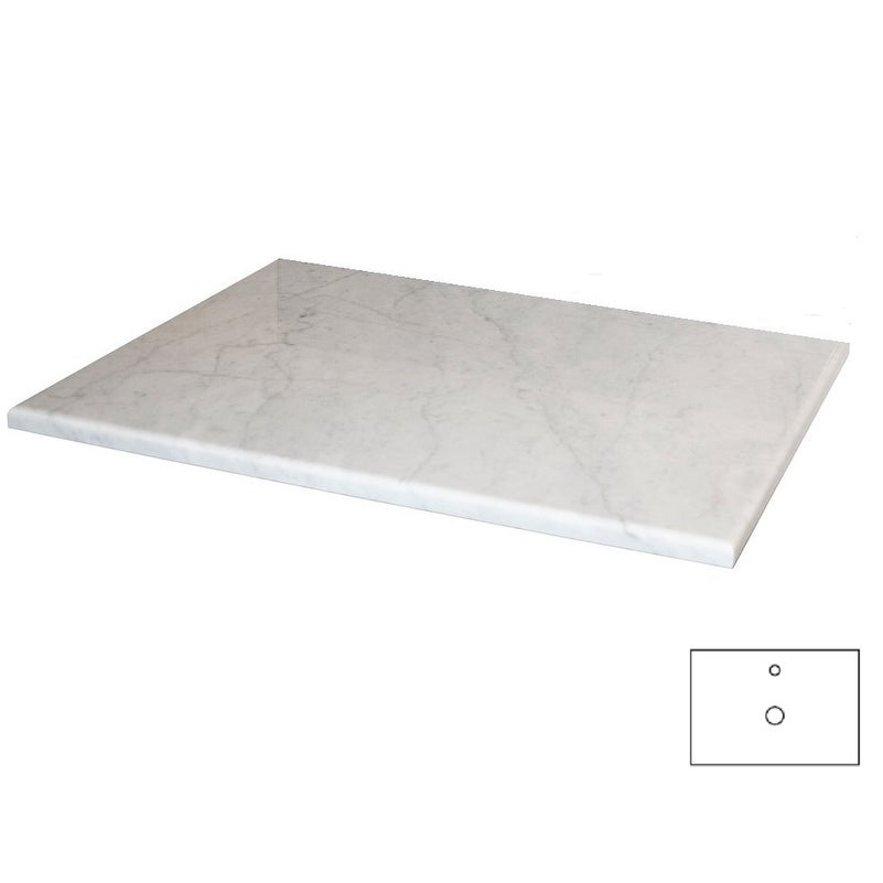 NATIVE TRAILS Carrara 30-inch Natural Stone Vanity Top fo...